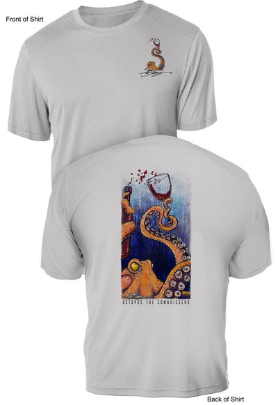 Octopus the Connoisseur - UV Sun Protection Shirt - 100% Polyester - Short Sleeve UPF 50