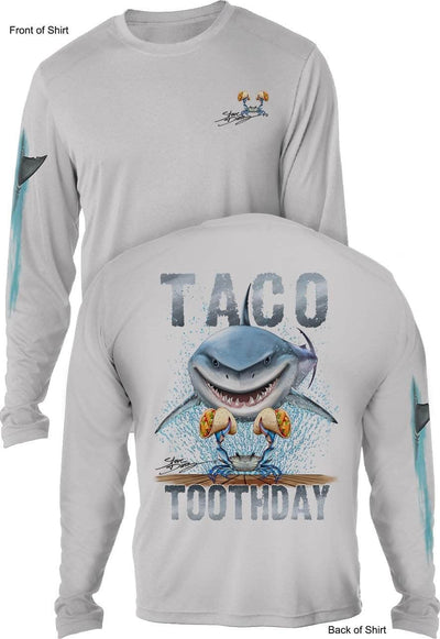Taco Toothday- MEN'S LONG SLEEVE SUN PROTECTION SHIRT ᴜᴘꜰ-ᴛᴇᴇ
