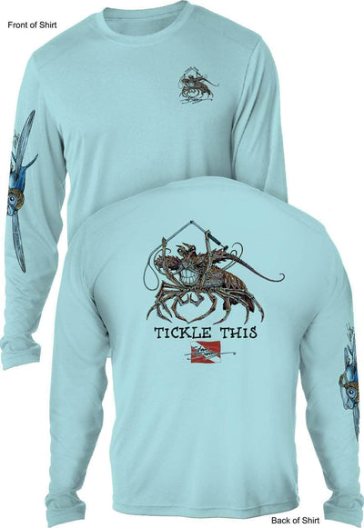 Tickle This Lobster- UV SUN PROTECTION SHIRT - 100% POLYESTER -LONG SLEEVE UPF 50
