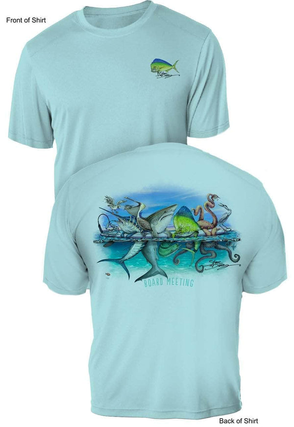 Board Meeting- UV Sun Protection Shirt - 100% Polyester - Short Sleeve UPF 50
