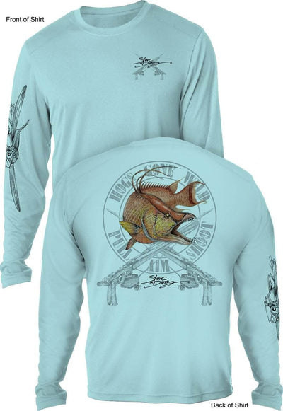 Hogs Gone Wild - UV SUN PROTECTION SHIRT - 100% POLYESTER -LONG SLEEVE UPF 50