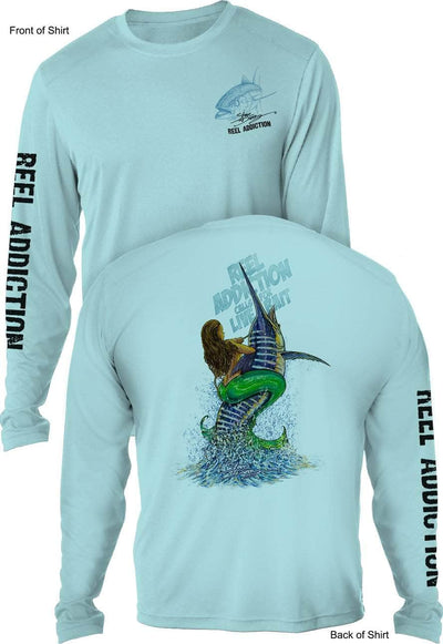 REEL ADDICTION Live Bait- UV - L O N G Sleeve - CustomPPOLY