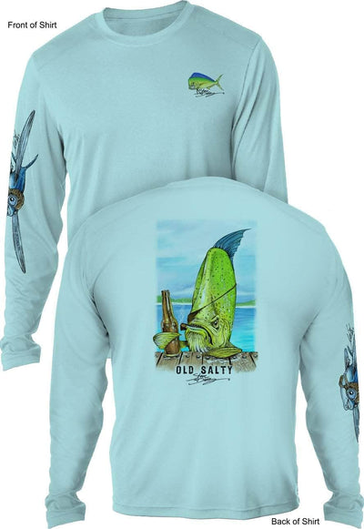Old Salty- UV SUN PROTECTION SHIRT - 100% POLYESTER -LONG SLEEVE UPF 50