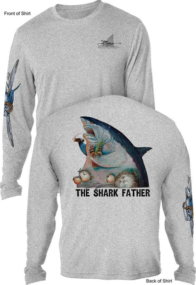 The Shark Father - UV SUN PROTECTION SHIRT - 100% POLYESTER -LONG SLEEVE UPF 50