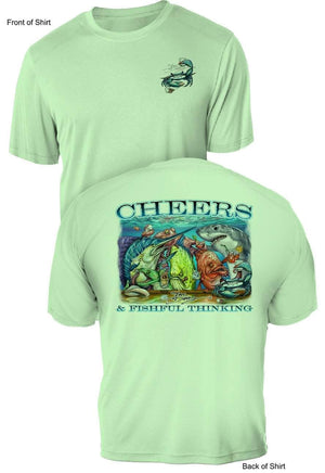 Tito's Cheers- UV Sun Protection Shirt - 100% Polyester - Short Sleeve UPF 50