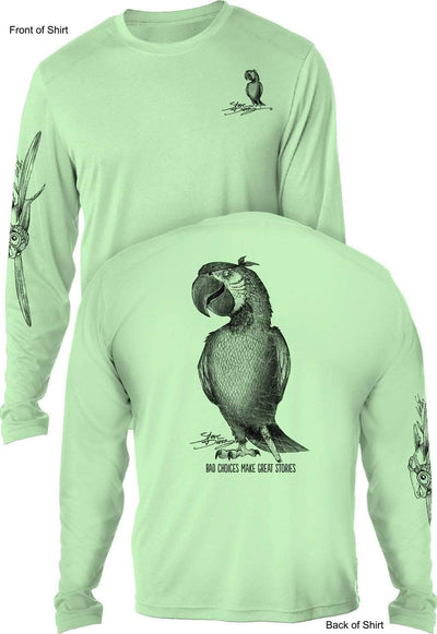 Pirate Parrot- UV SUN PROTECTION SHIRT - 100% POLYESTER -LONG SLEEVE UPF 50