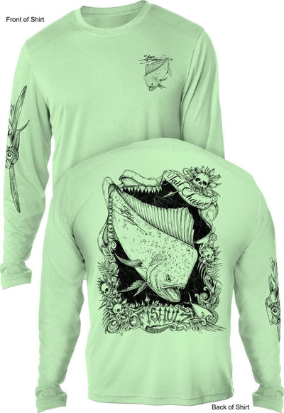 Tail Chaser- UV SUN PROTECTION SHIRT - 100% POLYESTER -LONG SLEEVE UPF 50
