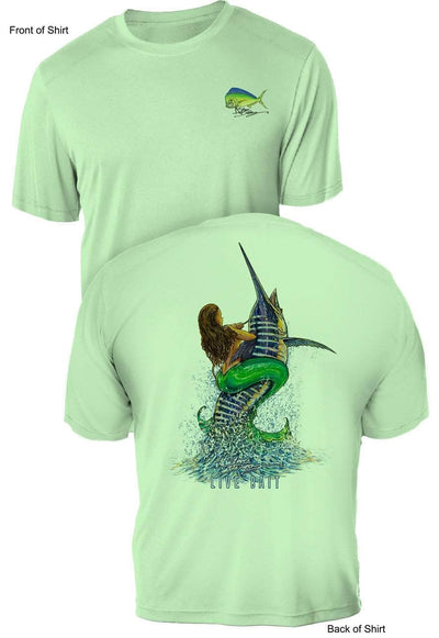 Live Bait- UV Sun Protection Shirt - 100% Polyester - Short Sleeve UPF 50