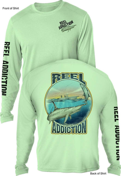REEL ADDICTION Hammerhead- UV - L O N G Sleeve- CustomPPOLY