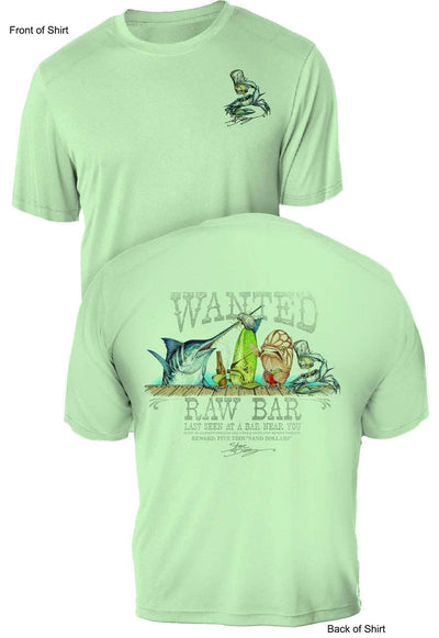 Raw Bar - UV Sun Protection Shirt - 100% Polyester - Short Sleeve UPF 50