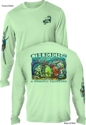 CHEERS - UV SUN PROTECTION SHIRT - 100% POLYESTER -LONG SLEEVE UPF 50