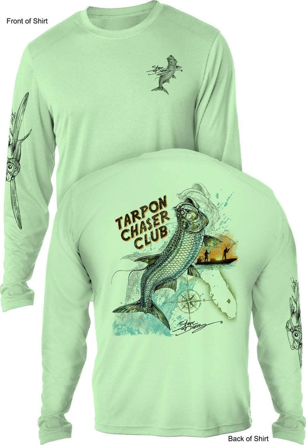 Tarpon Chaser- UV SUN PROTECTION SHIRT - 100% POLYESTER -LONG SLEEVE UPF 50