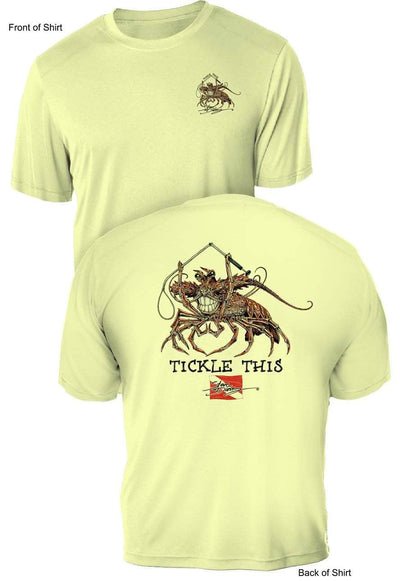 Tickle This Lobster- UV Sun Protection Shirt - 100% Polyester - Short Sleeve UPF 50