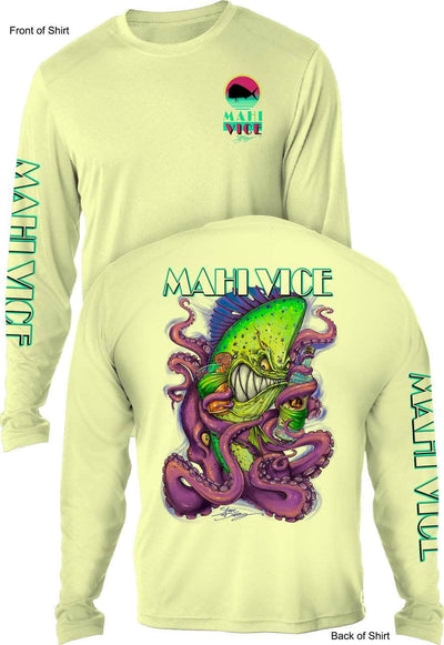 NEW! Mahi Vice- MEN'S LONG SLEEVE SUN PROTECTION SHIRT ᴜᴘꜰ-ᴛᴇᴇ