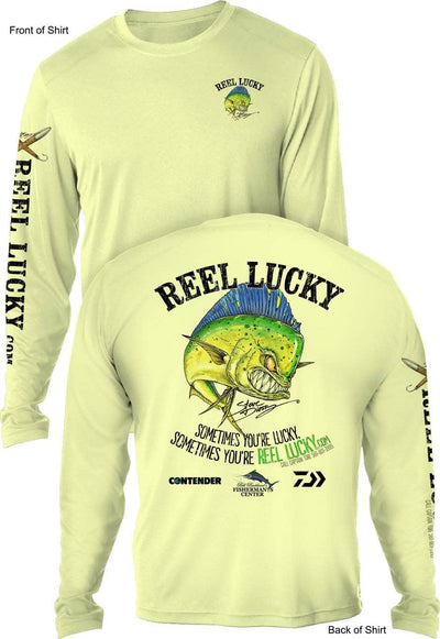 REEL LUCKY MM- UV - L O N G Sleeve - CustomPPOLY
