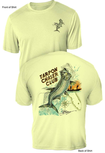 Tarpon Chaser - UV Sun Protection Shirt - 100% Polyester - Short Sleeve UPF 50