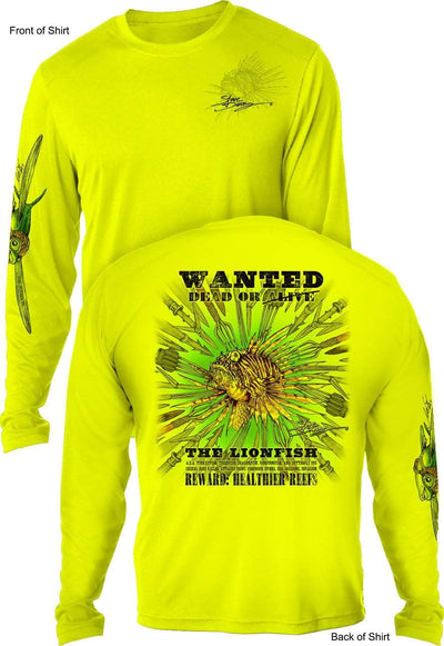 Lionfish Spears -MEN'S LONG SLEEVE SUN PROTECTION SHIRT