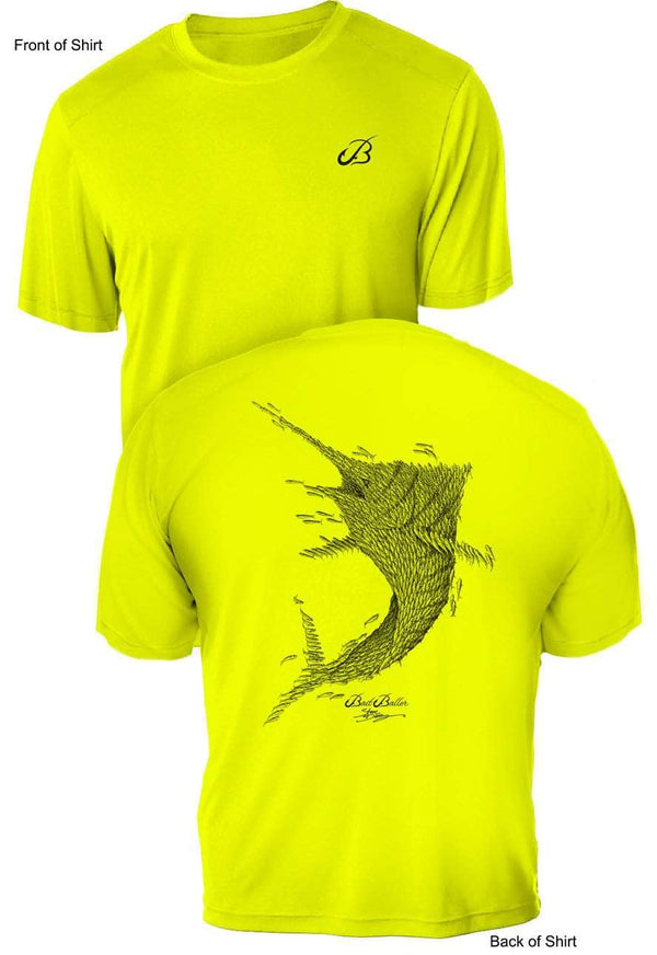 Bait Baller Marlin- UV Sun Protection Shirt - 100% Polyester - Short Sleeve UPF 50