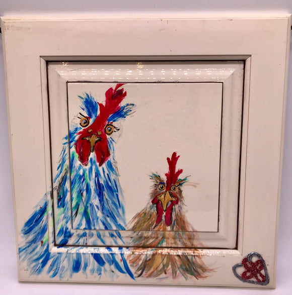 Crazy Chickens Painting