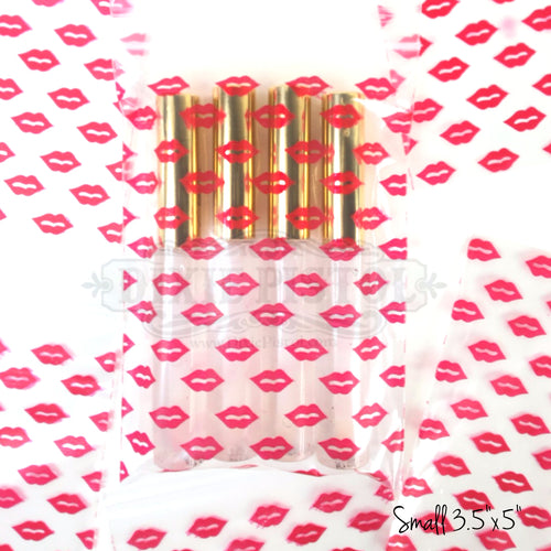 Resealable Lips Print Bag (100 count)