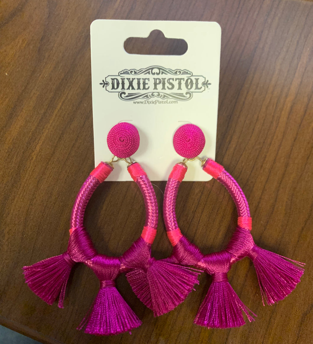 Fuschia Glam Girl Earrings