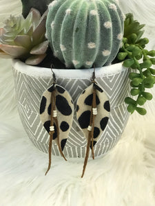 Petal leather Earrings
