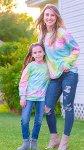 Tie Dye Neon Long Sleeve Shirt