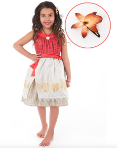 Polynesian Princess Dress & Clip