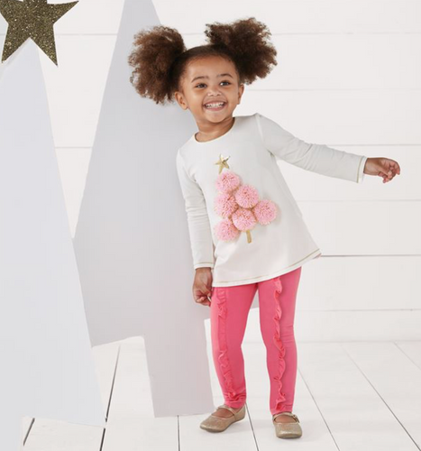 Mud Pie Pom-Pom Tree Tunic & Legging Set