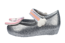 Mini Melissa Ultragirl Unicorn Silver Glitz Mary Jane Flat