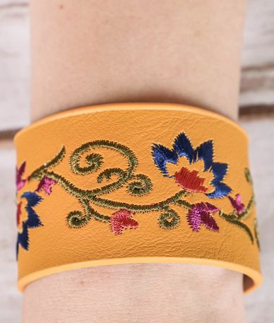 Gypsy Soul Embroidered Bracelet