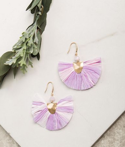 Breezy Beauty Earrings in Lavender and Light Pink