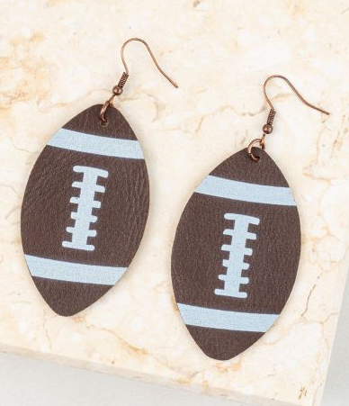 Touchdown! Large Leather Football Earrings