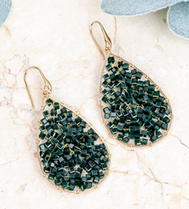 Dream Weaver Emerald Earrings