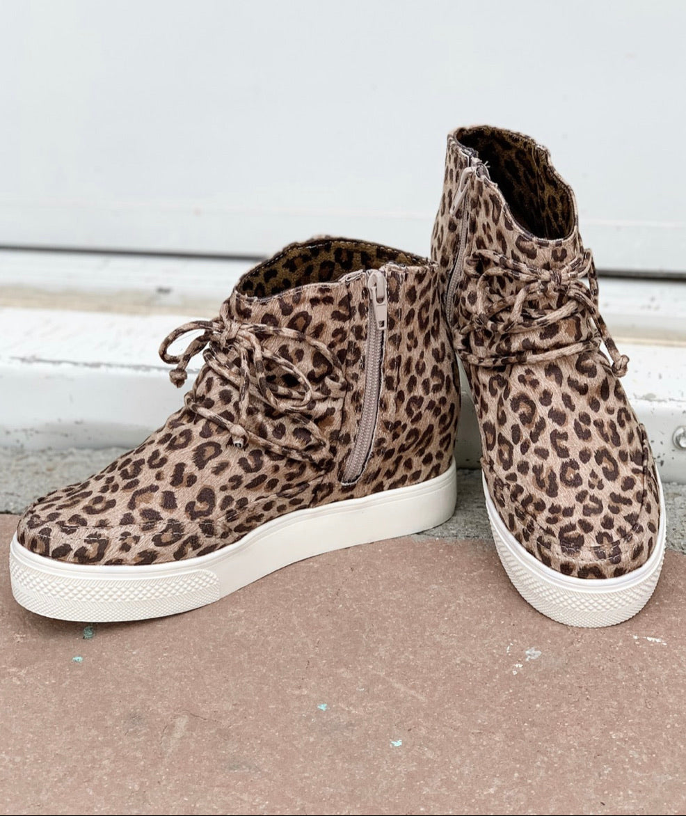 Very G Leopard Wedge Sneakers