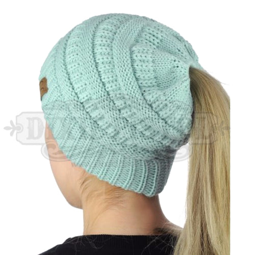 Messy Bun Beanie- 2 colors left!