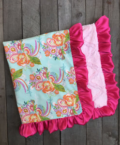 Kinsley Satin Ruffle Blanket