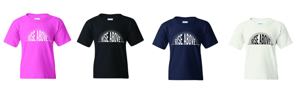 Kids Rise Above T-shirt - Azalea | Black | Navy | White