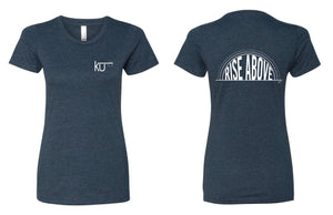 Midnight Navy Ladies Rise Above T-shirt