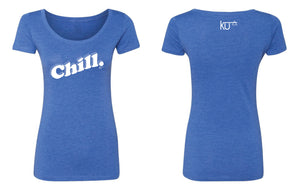 CHILL. LADIES SCOOP NECK TEE