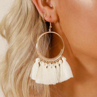 Ring Tassel Earrings