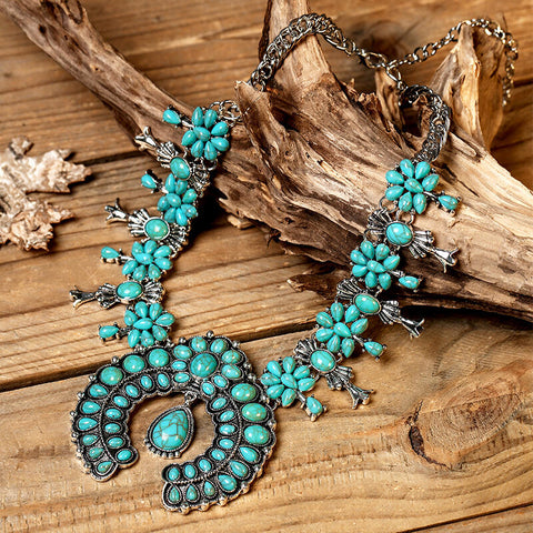Bohemian Turquoise Maxi Necklace