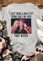 Halloween Hocus Pocus I'm 100% That Witch T-Shirt Tee - Light Grey