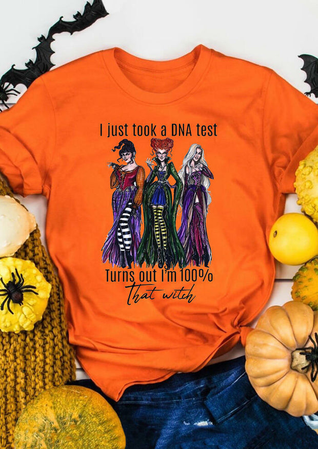 Halloween Hocus Pocus I'm 100% That Witch T-Shirt Tee - Gray
