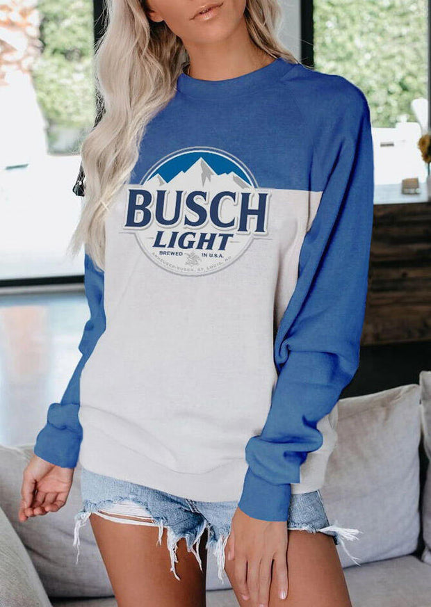 Busch Light O-Neck Sweatshirt - Blue