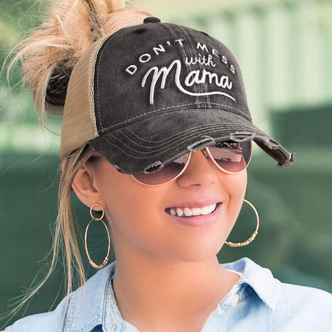 Don't Mess With Mama Embroidery Baseball Cap