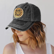 Mama Bear Washed Distressed Twill Baseball Cap