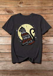 Halloween Hocus Pocus Thackery Binx T-Shirt Tee - Dark Grey