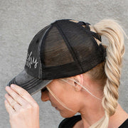 Halloween Witchy Woman Ripped Mesh Splicing Baseball Cap
