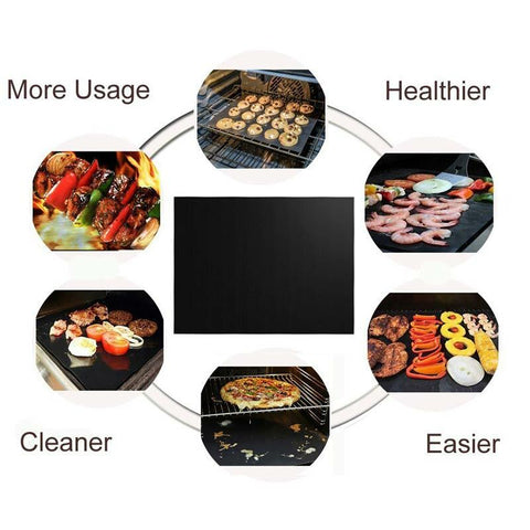 5Pcs Reusable Non-Stick BBQ Baking Mat